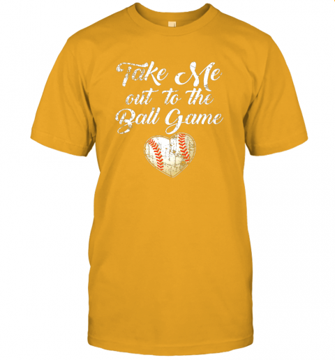 jlux take me out to the ball game shirt baseball mom sister gift jersey t shirt 60 front gold