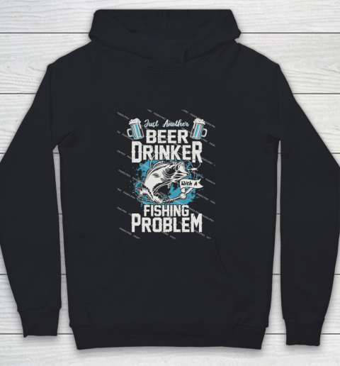 Beer Lover Funny Shirt Fishing ANd Beer Youth Hoodie