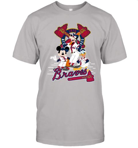 plwz atlanta braves mickey donald and goofy baseball jersey t shirt 60 front ash