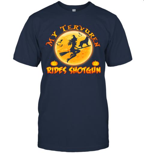 My Tervuren Dog Rides Shotgun Shirt Halloween Costume Gift T-Shirt