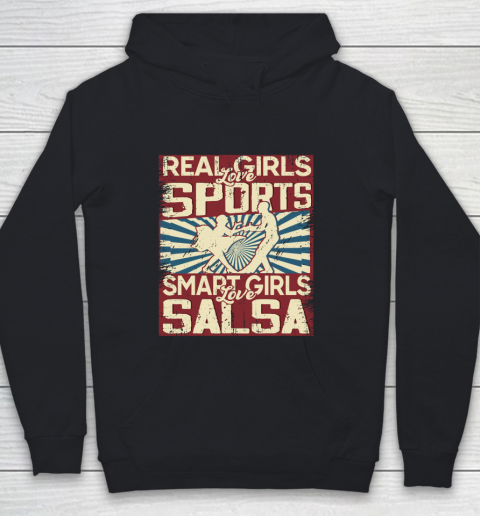 Real girls love sports smart girls love salsa Youth Hoodie