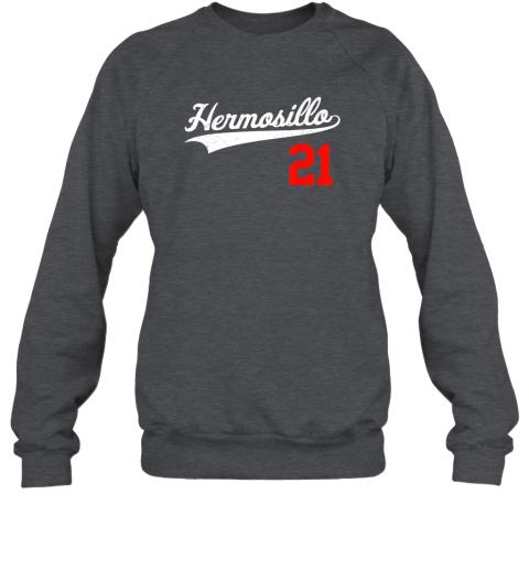 ayvc hermosillo shirt in baseball style for mexican fans sweatshirt 35 front dark heather
