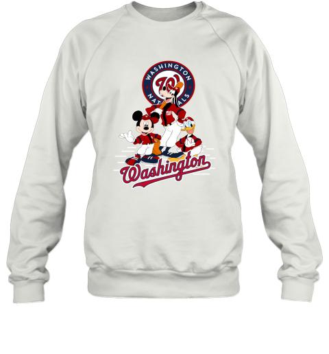 Washington Nationals Mickey Donald And Goofy Baseball Sweatshirt