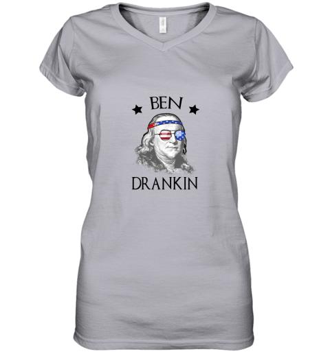 Day 4th Of July Ben Drankin Benjamin Franklin Women's V-Neck T-Shirt