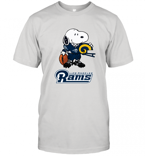 Snoopy A Strong And Proud Los Angeles Rams Player NFL Unisex Jersey Tee