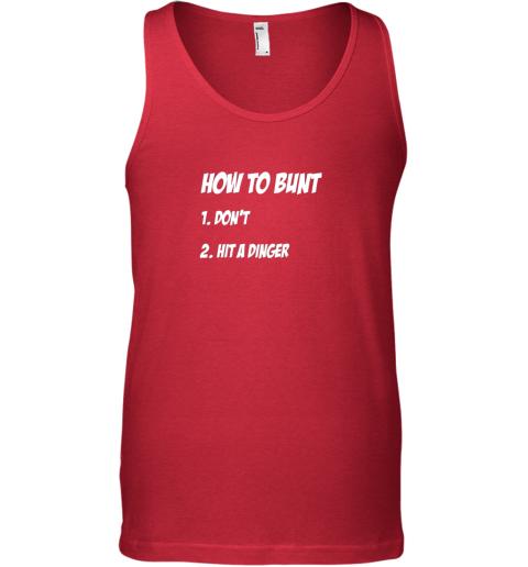 z3jq how to bunt 1 don39 t 2 hit a dinger baseball softball unisex tank 17 front red