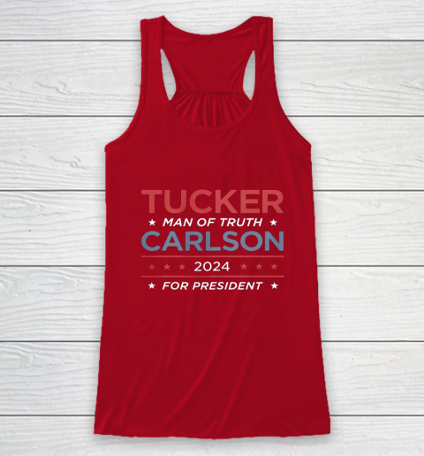 Vote For Tucker Carlson 2024 Presidential Election Campaign Racerback Tank 4