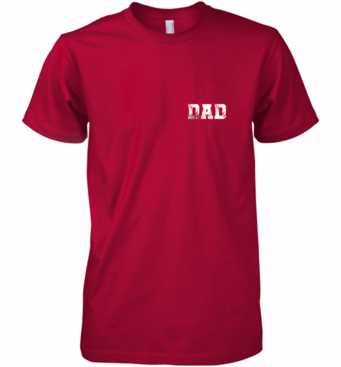 bkx2 mens baseball inspired dad fathers day distressed premium guys tee 5 front red
