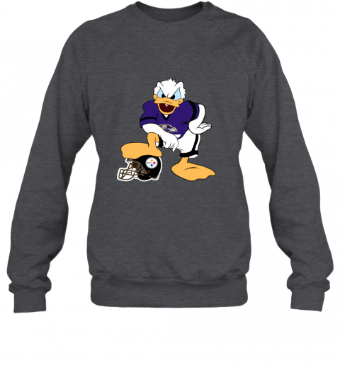 sflm you cannot win against the donald baltimore ravens nfl sweatshirt 35 front dark heather