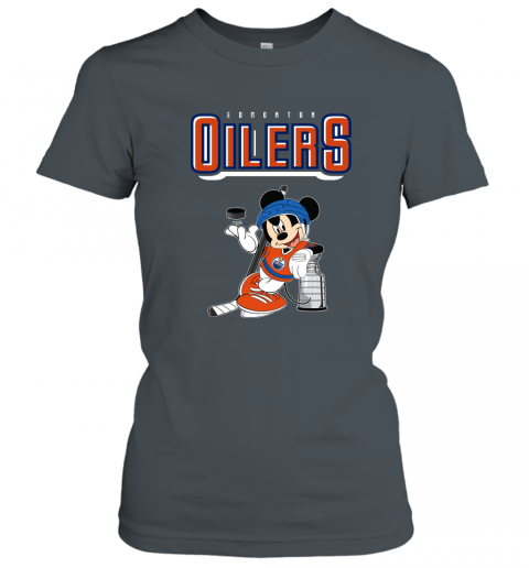 swbv mickey edmonton oilers with the stanley cup hockey nhl shirt ladies t shirt 20 front dark heather