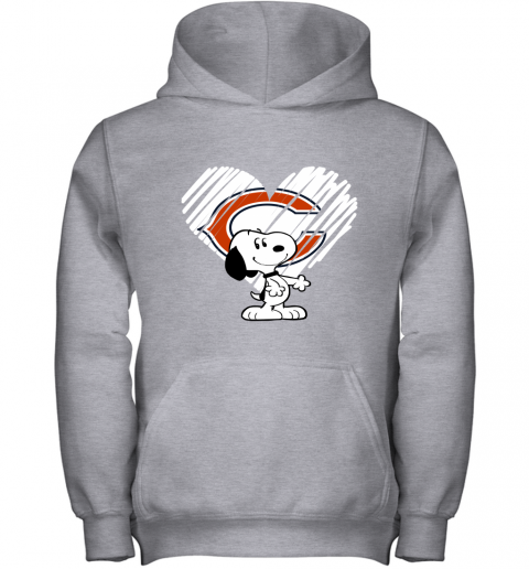 z3pn i love chicago bears snoopy in my heart nfl youth hoodie 43 front sport grey