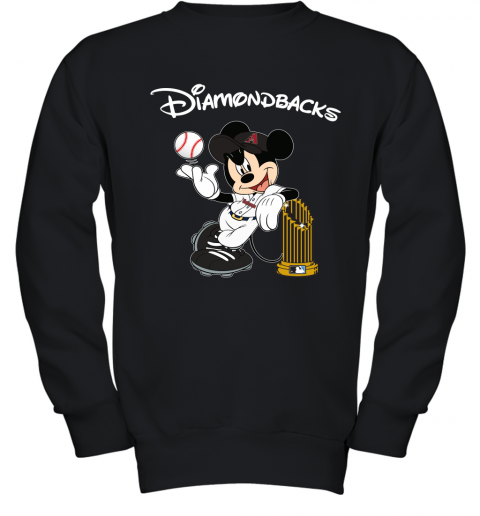 Arizona Diamondbacks Mickey Taking The Trophy MLB 2019 Youth Sweatshirt