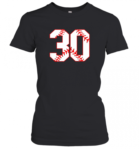 Thirtieth Birthday Party 30th Baseball Shirt Born 1989 Women's T-Shirt