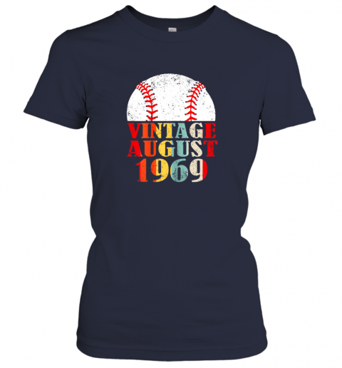 unks born august 1969 baseball shirt 50th birthday gifts ladies t shirt 20 front navy