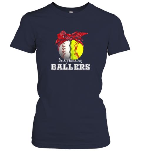 nxv1 busy raising ballers softball baseball shirt baseball mom ladies t shirt 20 front navy