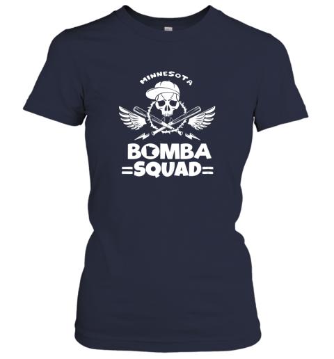 rkml bomba squad twins shirt minnesota baseball men bomba squad ladies t shirt 20 front navy