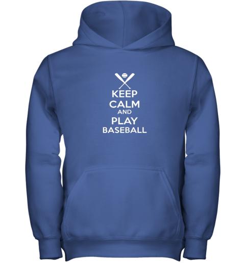 oisq keep calm and play baseball youth hoodie 43 front royal