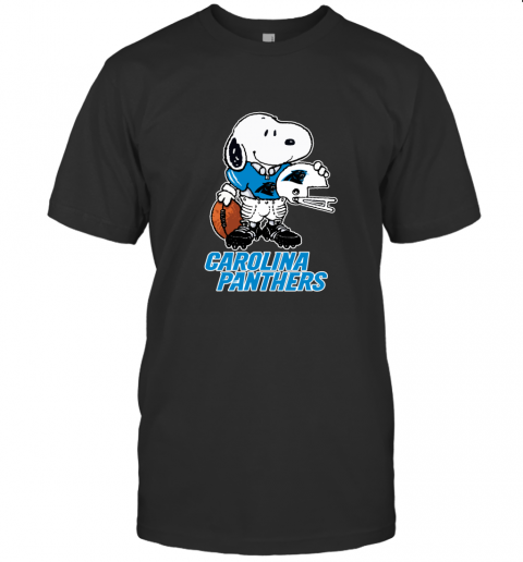 Snoopy A Strong And Proud Carolina Panthers NFL T-Shirt