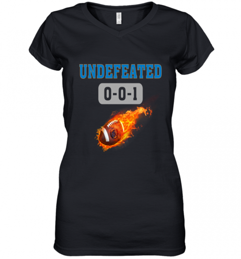 NFL DETROIT LIONS LOGO Undefeated Women's V-Neck T-Shirt