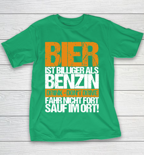 Beer Lover Funny Shirt Beer Cheaper Than Gasoline Drinking Alcohol Drinking Party Saying Youth T-Shirt 3