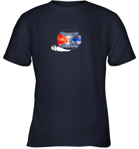 6nwl vintage baseball cuba flag shirt cuban pride youth t shirt 26 front navy