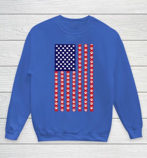 Handball Dog Lover American Flag Youth Sweatshirt 6