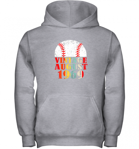 kvq0 born august 1969 baseball shirt 50th birthday gifts youth hoodie 43 front sport grey