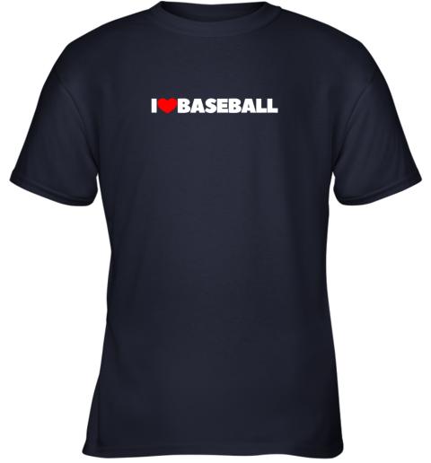 12vp i love heart baseball youth t shirt 26 front navy