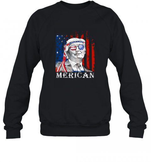 ijmn merica donald trump 4th of july american flag shirts sweatshirt 35 front black