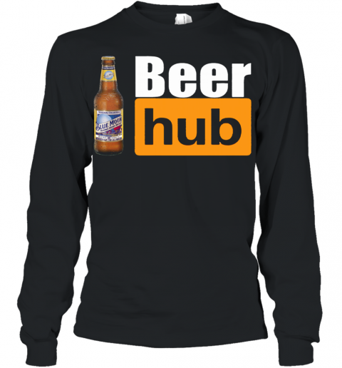 Blue Moon Beer Hub Porn Hub Style Beer Youth Long Sleeve