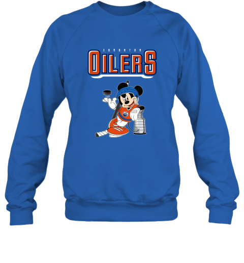 v2qw mickey edmonton oilers with the stanley cup hockey nhl shirt sweatshirt 35 front royal