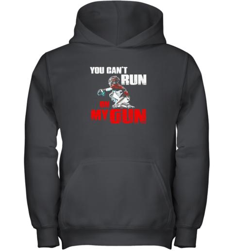 You Cant Run On My Gun Shirt Baseball Youth Hoodie
