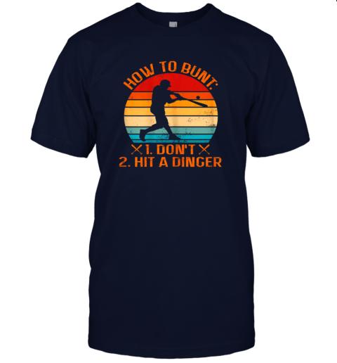 wjat how to bunt don39 t hit a dinger baseball jersey t shirt 60 front navy