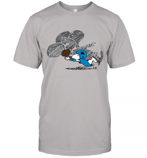 Carolina Panthers Snoopy Plays The Football Game Unisex Jersey Tee