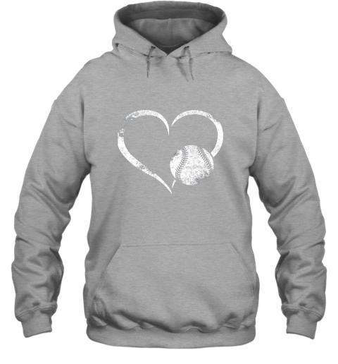 lxql i love baseballl funny baseball lover heartbeat hoodie 23 front sport grey