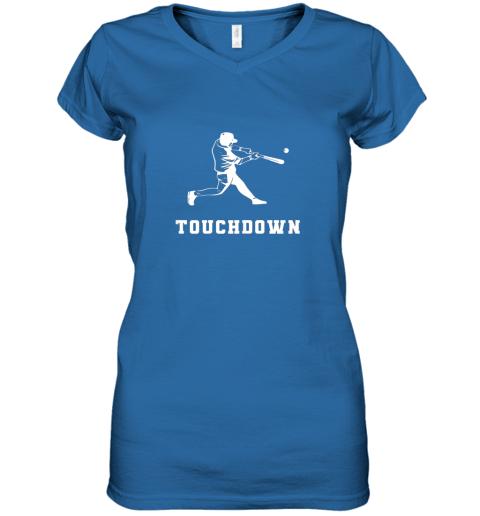 v1ed touchdown baseball shirtfunny sarcastic novelty women v neck t shirt 39 front royal