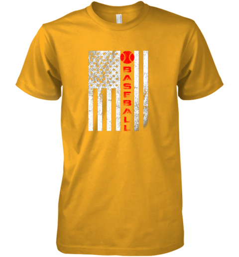 2o1t usa red whitevintage american flag baseball gift premium guys tee 5 front gold