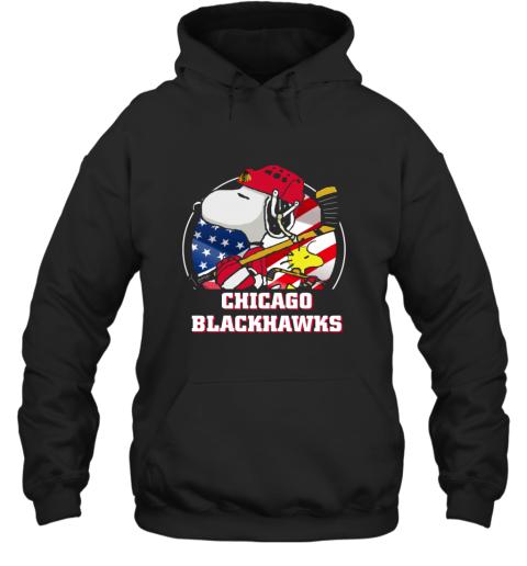 Chicago Blackhawks Ice Hockey Snoopy And Woodstock NHL Hoodie