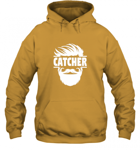 gqyp bearded baseball catcher hoodie 23 front gold