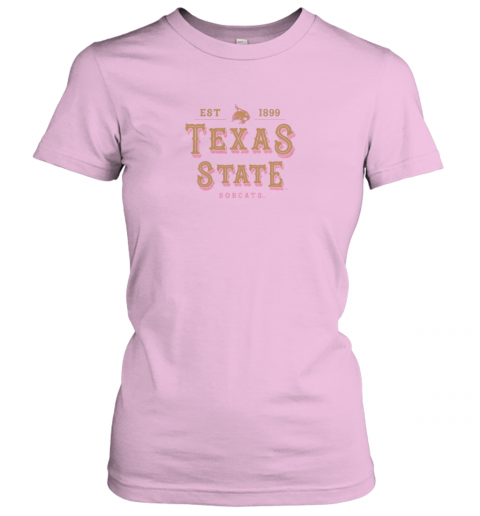 rvtr texas state bobcats womens college ncaa ladies t shirt 20 front light pink