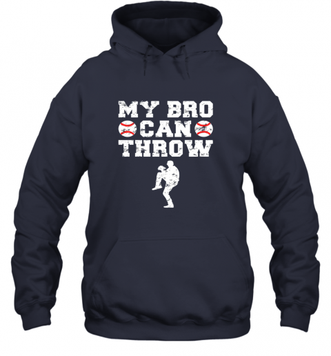 57ly kids cute baseball brother sister funny shirt cool gift pitcher hoodie 23 front navy