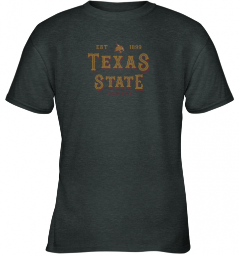 slqo texas state bobcats womens college ncaa youth t shirt 26 front dark heather