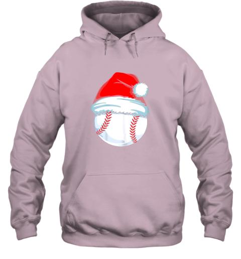 9tp2 christmas baseball shirt for kids men ball santa pajama hoodie 23 front light pink