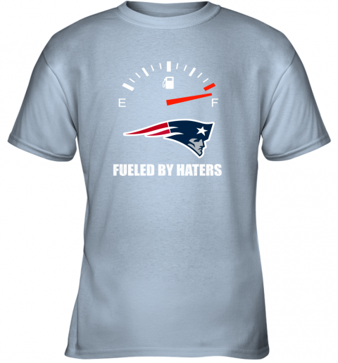 kulz fueled by haters maximum fuel new england patriots youth t shirt 26 front light blue