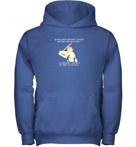 fn4n mens behind every baseball player is a dad that believes youth hoodie 43 front royal