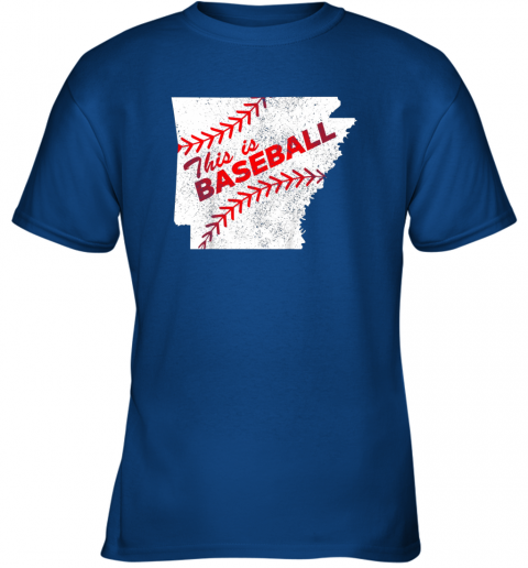 5stn this is baseball arkansas with red laces youth t shirt 26 front royal
