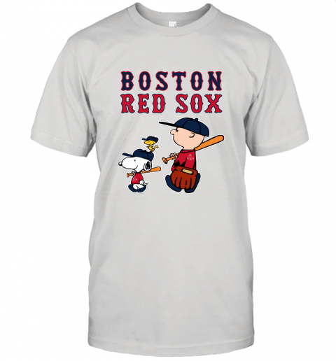 Boston Red Sox Let's Play Baseball Together Snoopy MLB Shirt