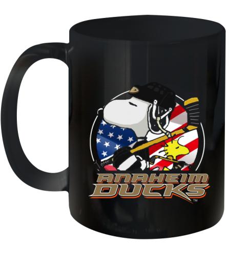 Anaheim Ducks  Snoopy And Woodstock NHL Ceramic Mug 11oz