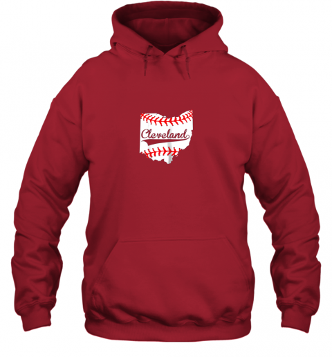 qiqu cleveland ohio 216 baseball hoodie 23 front red