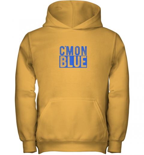 pkm7 cmon blue umpire baseball fan graphic lover gift youth hoodie 43 front gold